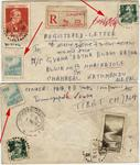 1956 manuscript remarked cv old new currency stamp